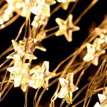 LED light bundle star for outside 320 1m silver / warm white