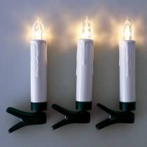 LED tree candles 10cm warm white with remote control 10pcs
