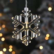 LED window decoration Christmas snowflakes warm white For battery 105cm