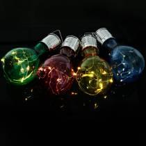 Garden decoration solar LED light bulb assorted 15cm 4pcs