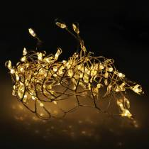 LED light chain warm white silver 100cm 100L for battery
