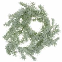Larch garland with glitter and snow 160cm