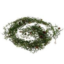 Larch garland green with cones 180cm