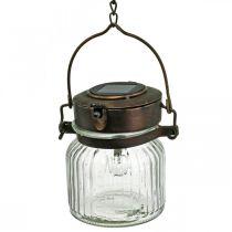 LED lantern, hanging lamp, solar light in the glass Ø11cm H14cm