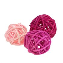 Lataball assortment 3cm pink / pink / lilac 72pcs