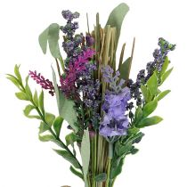 Artificial lavender bunch with herbs 23cm