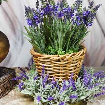 Lavender wreath flocked Ø25cm