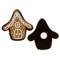 Gingerbread house 4.5cm with adhesive point 12pcs