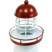 Lighthouse red maritime decoration metal summer decoration