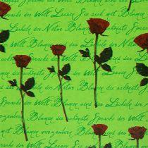 Cuff paper 25cm 100m green rose