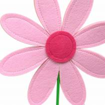 Gigantic felt flower green, pink, pink Ø40cm H93cm shop window decoration