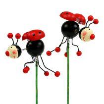 Ladybug on a stick 5cm 12pcs
