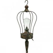 LED lantern, decorative lamp, antique look, Ø16cm H43cm