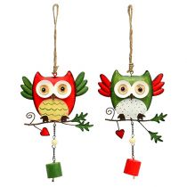 Metal owl to hang 12cm 2pcs