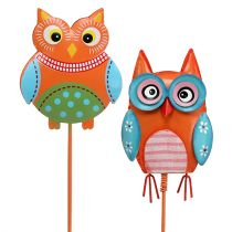 Metal owl 7cm on the wire sort. 4pcs