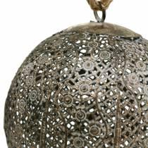 Metal ball antique for hanging Ø13.5cm