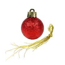 Mini Christmas ball red Ø3cm 14pcs