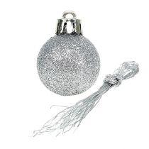 Mini Christmas ball silver Ø3cm 14pcs
