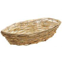 Basket boat for planting light brown L33cm