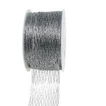 Mesh ribbon silver wire-reinforced 40mm 15m