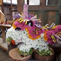 Floral foam unicorn 68cm x 60cm