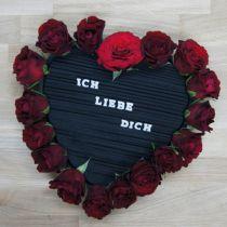 Floral foam heart foam black 38cm 2pcs