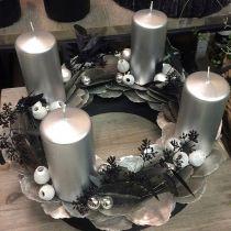 Floral foam wreath ring black Ø30cm 2pcs