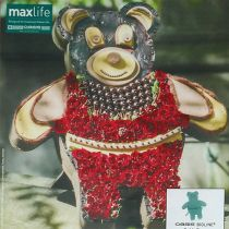 Floral foam figure teddy with stand 48.5cm x 42cm H5cm 1p