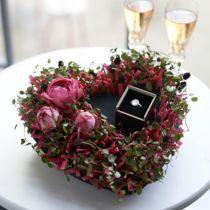 Floral foam heart black 17cm 2pcs wedding decoration