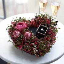 Floral foam heart black 25.5cm 2pcs