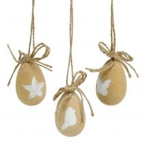 Easter eggs wood with motifs 8pcs
