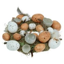 Easter wreath with eggs Ø24cm natural, white