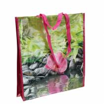 Shopping bag with handles Happiness plastic 38 × 10 × 40cm
