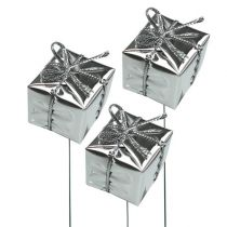 Package on wire silver 2.5cm 60pcs