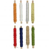 Paper cord wire wrapped around Ø0.8mm 22m colored