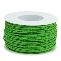 Paper cord wire wrapped in Ø2mm 100m apple green