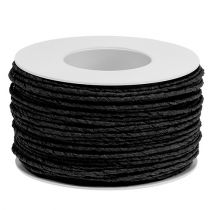 Paper cord wire wrapped Ø2mm 100m black