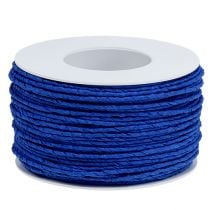 Paper cord wrapped in wire Ø2mm 100m blue