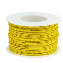 Paper cord wire wrapped Ø2mm 100m yellow