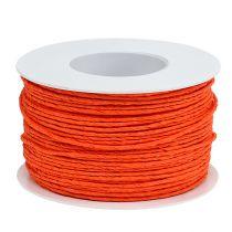 Paper cord wire wrapped Ø2mm 100m orange