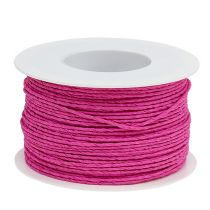 Paper cord wire wrapped around Ø2mm 100m pink