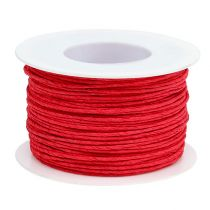 Paper cord wrapped in wire Ø2mm 100m red