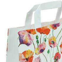 Paper bag poppy 22cm x 10cm x 28cm 25pcs