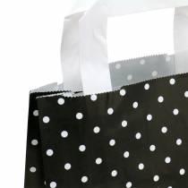 Paper bag black with dots 22cm x 10cm x 31cm 25pcs