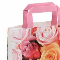 Paper bag rose 22cm x 10cm x 28cm 25pcs