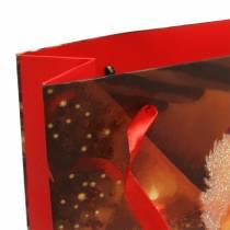Gift bag set Christmas motif Santa Red 20cm × 30cm × 8cm