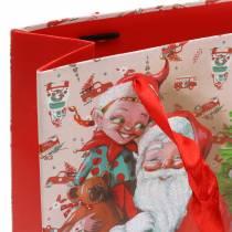 """Gift bag paper bag """"Santa Claus"""" H24cm"""