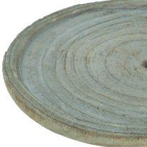Decorative plate Paulownia wood Ø22cm