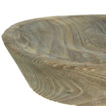 Decorative bowl Paulownia wood oval 44cm x 19cm H8cm