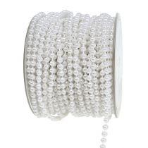 Pearl ribbon white Ø4mm 20m